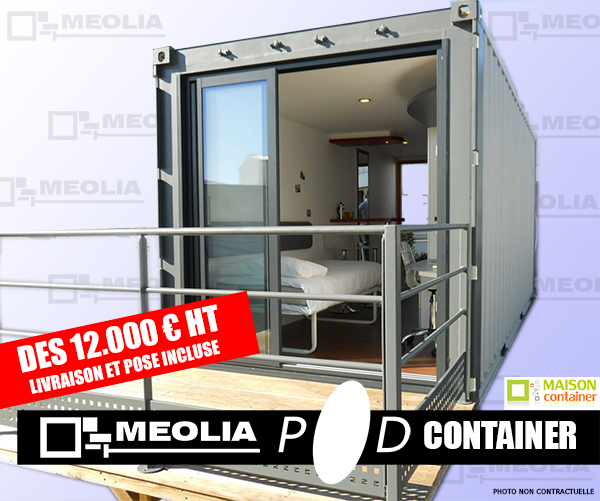 container 20 pieds amenage. Black Bedroom Furniture Sets. Home Design Ideas